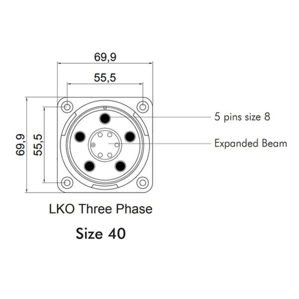 Image of LKO Hybrid Optical + Power Connectors Section