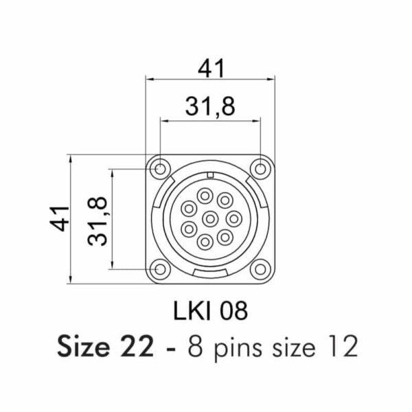 Immagine di Sezione Connettori Speaker LK 8 Poli