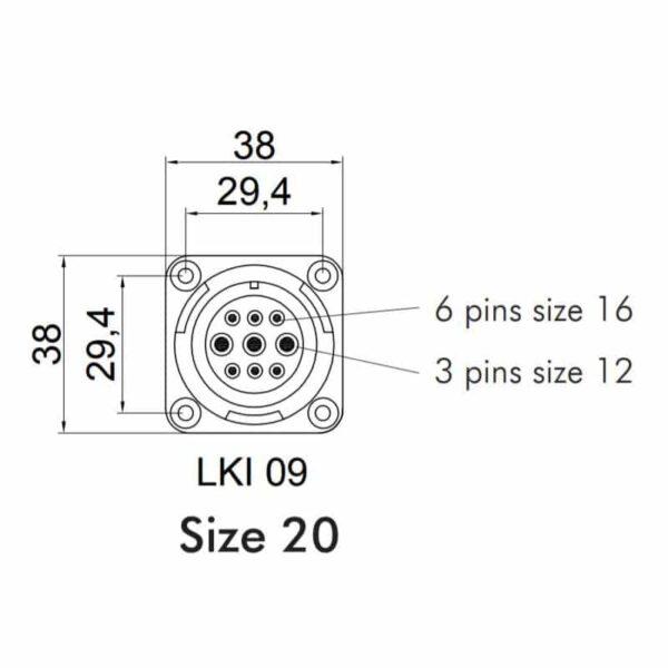 Image of LK 9 Pole Speaker Connectors Section